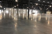 densified concrete treatment for warehouse floor