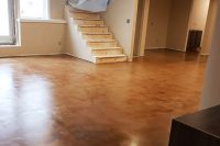bronze toned polished residential floor