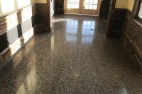polished concrete with a granite-like appearance